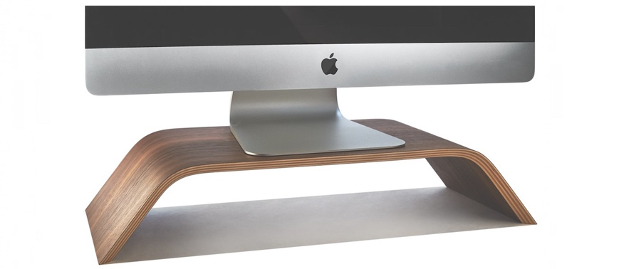 Walnut Monitor Stand for iMAC