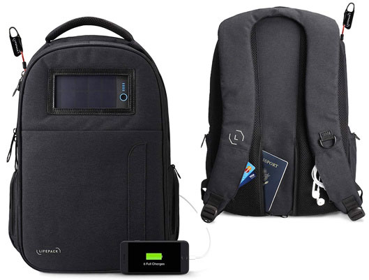 Lifepack Solar Powered anti-theft backpack