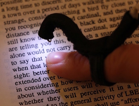 Reading Device on Your Finger