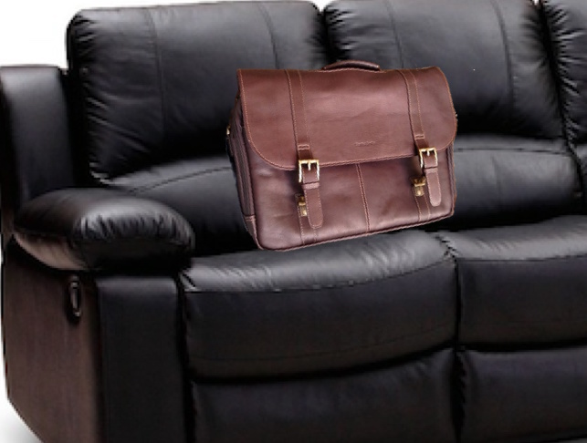 Samsonite Leather Flapcover Briefcase for Macbook