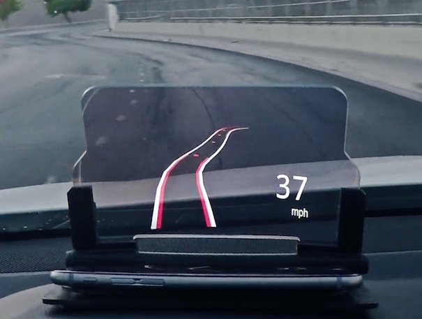 Smartphone-Connected Head-Up Display for Car