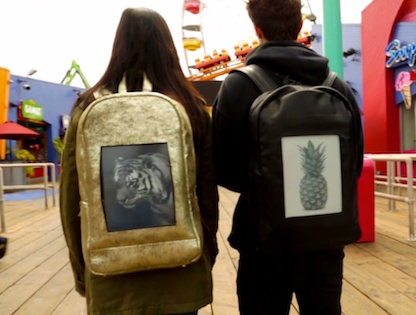 Backpack with E-Ink Display