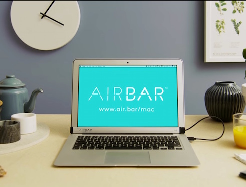 AirBar Makes macbook Display Touchscreen