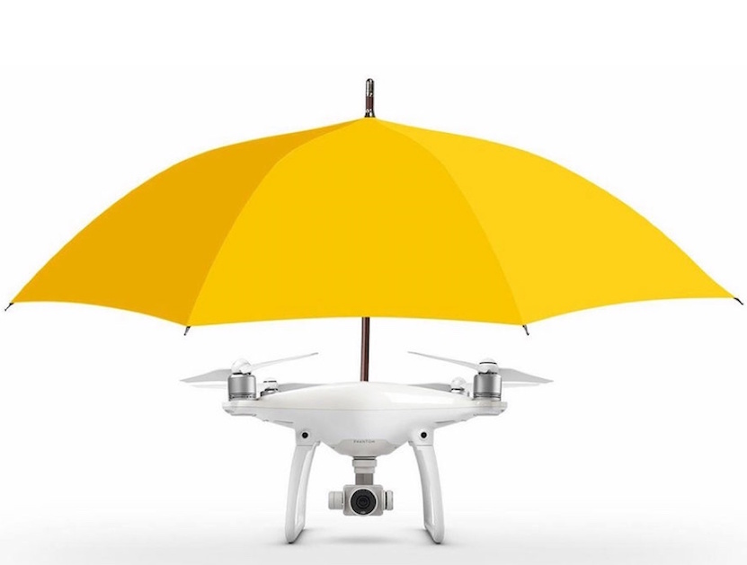 Drone-Umbrella Protects You from Rain