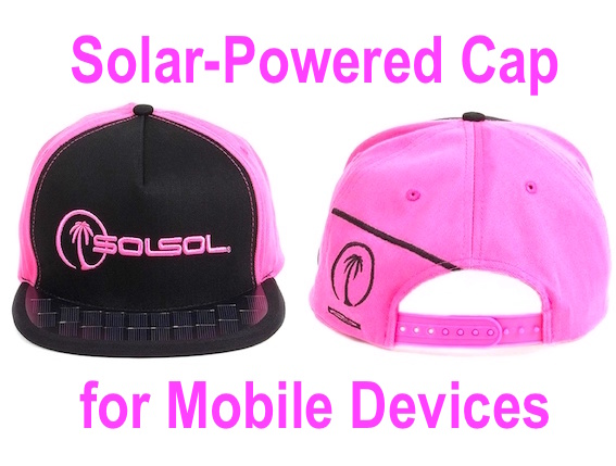 Solar-Powered Cap for Charging Mobile Devices