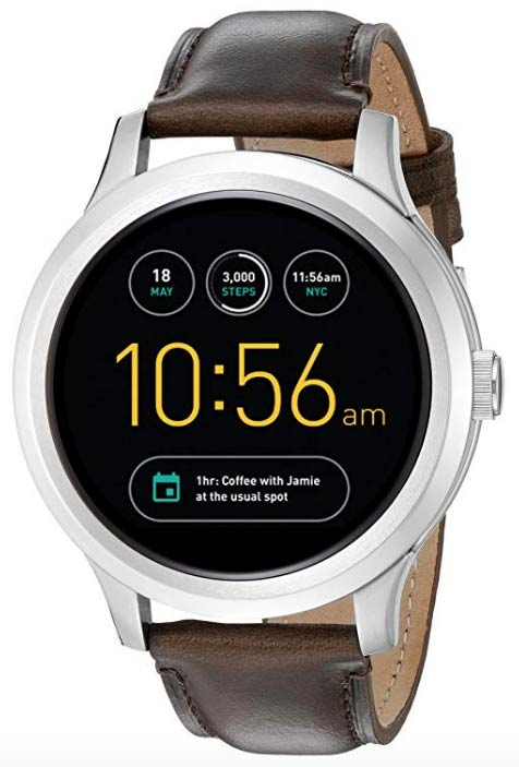 Fossil Q Founder Gen 1 Touchscreen Smartwatch with leather band