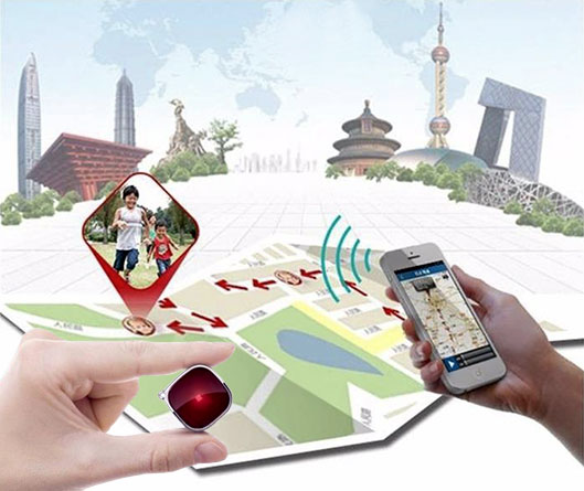 A9 Micro GPS Tracker display the position of your children on the map