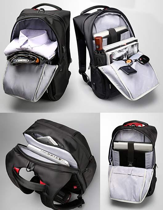 Anti-theft Laptop Backpack waterproof USB Charging Port