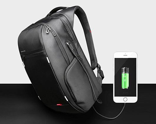Anti-theft waterproof Laptop Backpack USB Charging Port