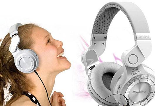 Bluedio T2 Headphone white Turbine Hurricane