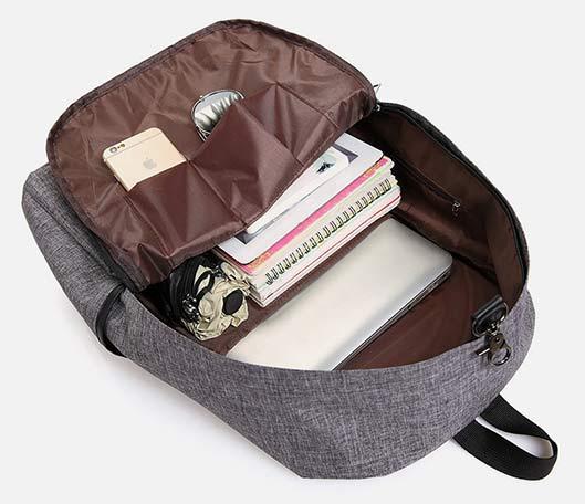 Built-In Battery Backpack for Travel