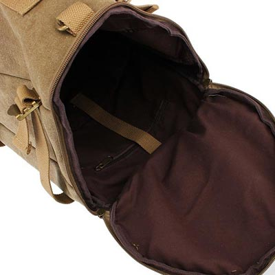 Canvas Backpack for camping bag