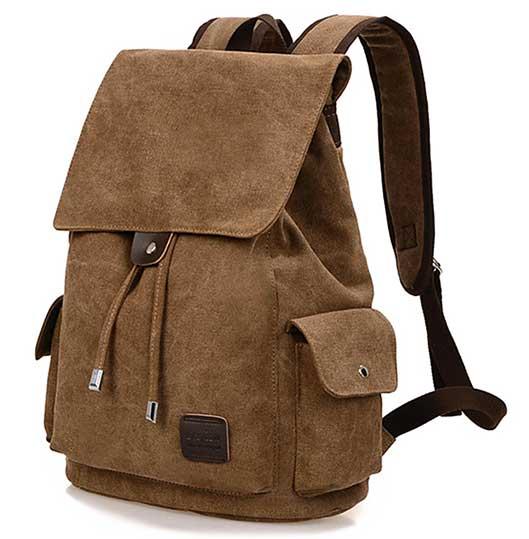 Men Outdoor Travel Canvas Backpack