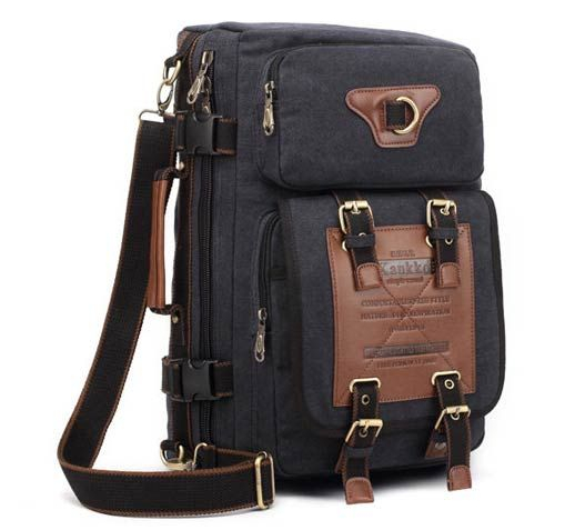 Mens Canvas Outdoor Bag Travel Backpack