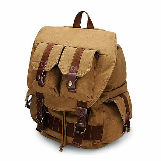 QISEMIAN Outdoor Canvas Backpack