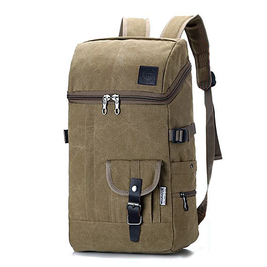 Solid Canvas Travel Backpack