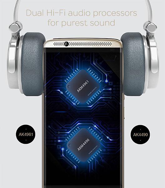 ZTE Axon 7 smartphone with the best speaker