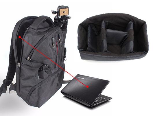 Camera Bag Nylon Travel Backpack