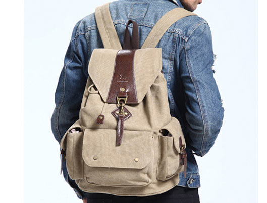 Canvas Bag Casual Backpack