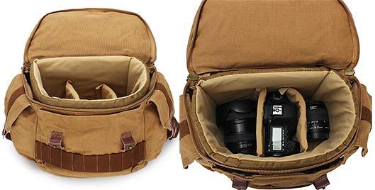 Canvas Camera Bag Travel Backpack