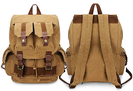 Canvas Outdoor Camera Bag Travel Backpack