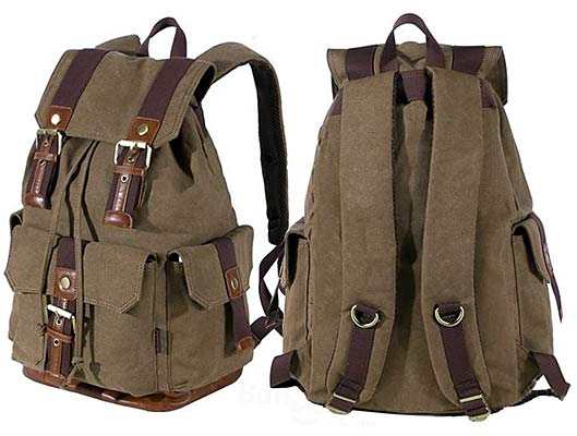 Canvas Outdoor Compact Bag Travel Backpack
