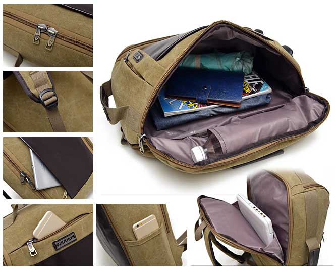 Casual Canvas OutdoorTravel Backpack