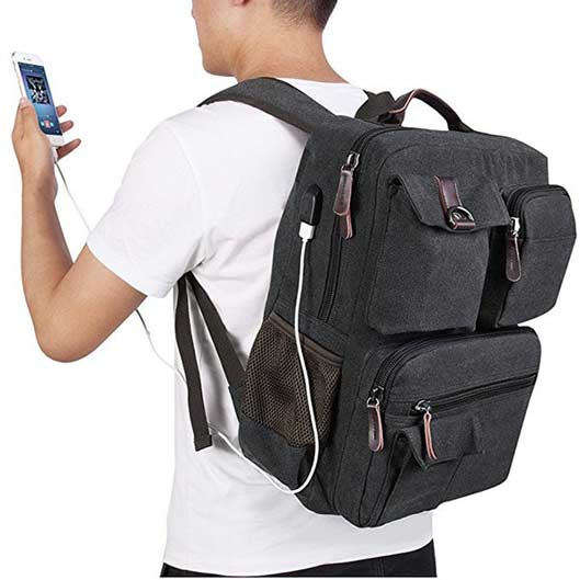 Functional Canvas Outdoor Bag Travel Backpack 2