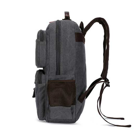 Functional Canvas Outdoor Bag Travel Backpack 3