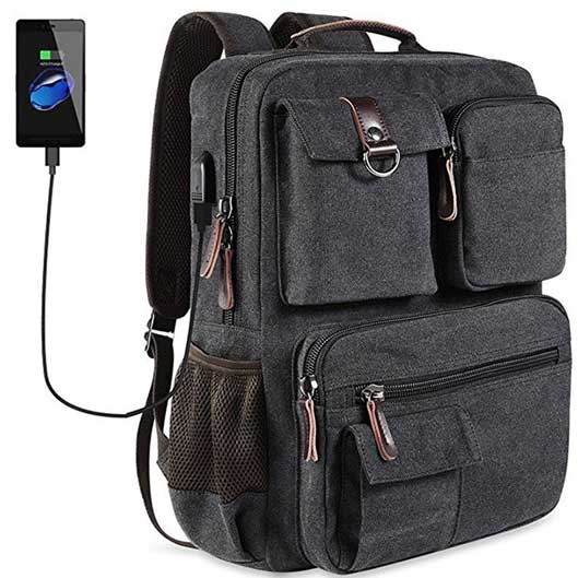 Functional Canvas Outdoor Bag Travel Backpack