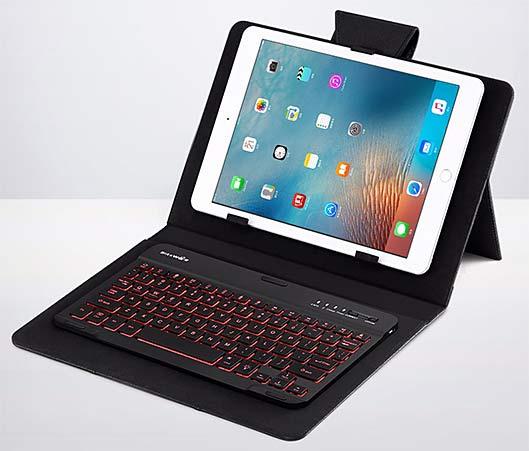 LED Backlight Bluetooth Tablet Keyboard Case