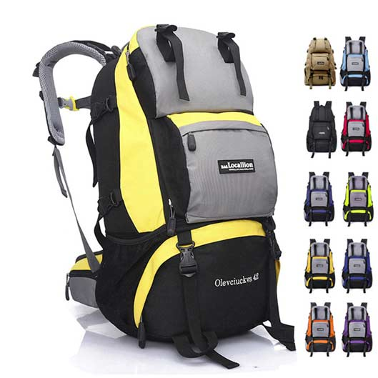 Outdoor Nylon Rucksack Large Camping Backpack