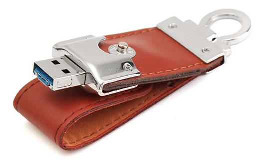Portable Leather Mirco USB2.0
