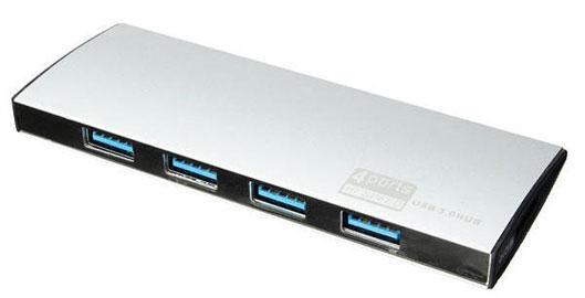 Slim Portable 4-Port USB 3.0 Hub