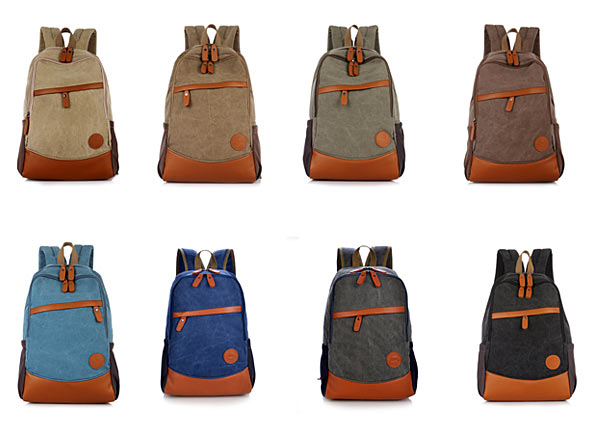 Stylish Outdoor Canvas Laptop Backpack for Travel