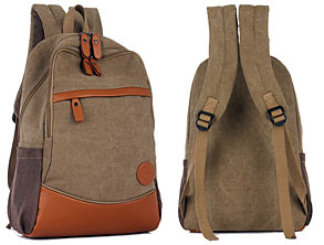 Stylish Outdoor Canvas Laptop Backpack review