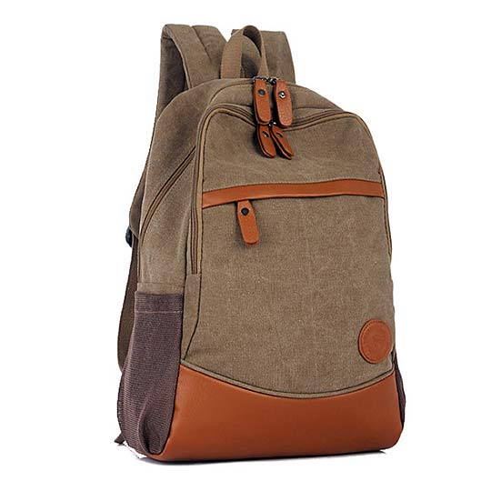 Stylish Outdoor Canvas Laptop Backpack