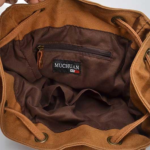 Vintage Bag Canvas Camping Backpack