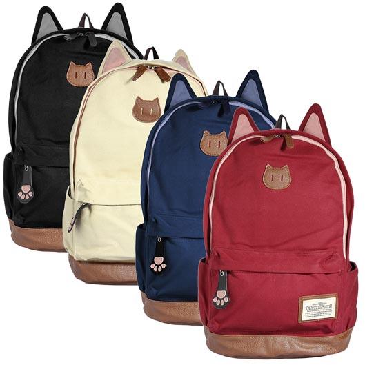 Canvas Backpack School Bag