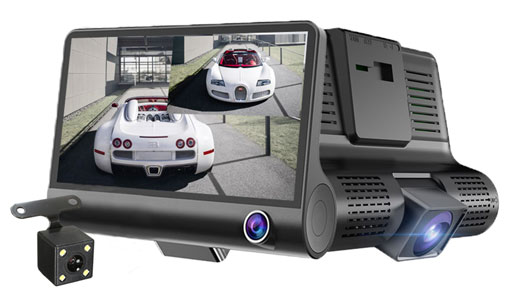 Front and Rear View Dash Camera