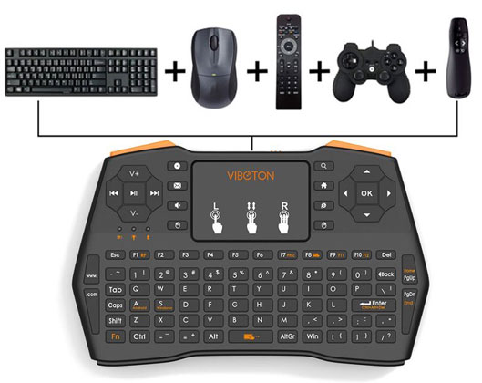 Mini Touchpad Wireless Keyboard