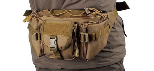 Nylon Outdoor Bag for Travel Crossbody Riding Waist Bag