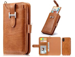 Coupon Deal iPhone X Leather Wallet Case Promo Discount Code