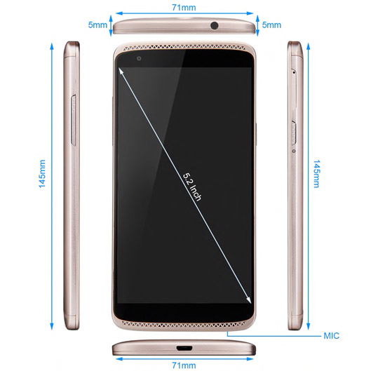 Full HD Display Camera Phone ZTE AXON Mini