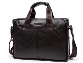Genuine Leather Messenger Bag MacBook Laptop Handbag review