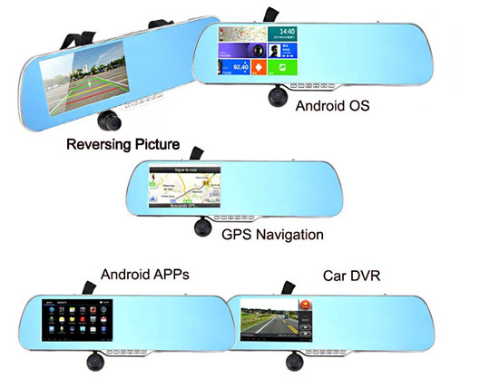 GPS Navigator Camera 5-Inch Smart Rearview Mirror review