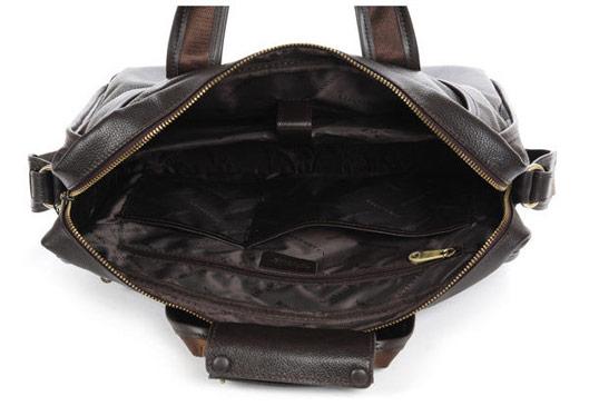 Leather Messenger Bag MacBook Laptop Handbag