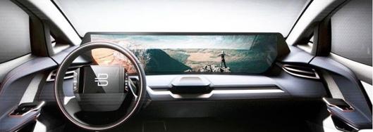 Wide Windscreen Display New Electro-Car