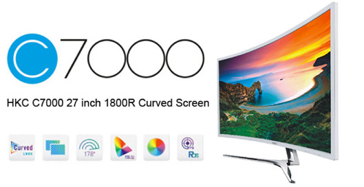 27-inch Curved Screen Monitor for PC