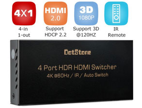 4x1 HDMI Switcher Box HDMI Splitter review